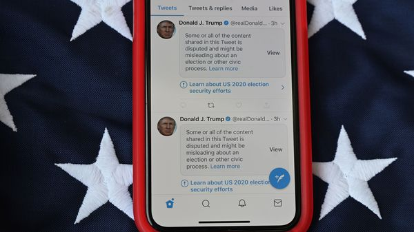Twitter hid some tweets, including many from President Donald Trump, behind labels warning users they contained disputed or misleading information about the election.